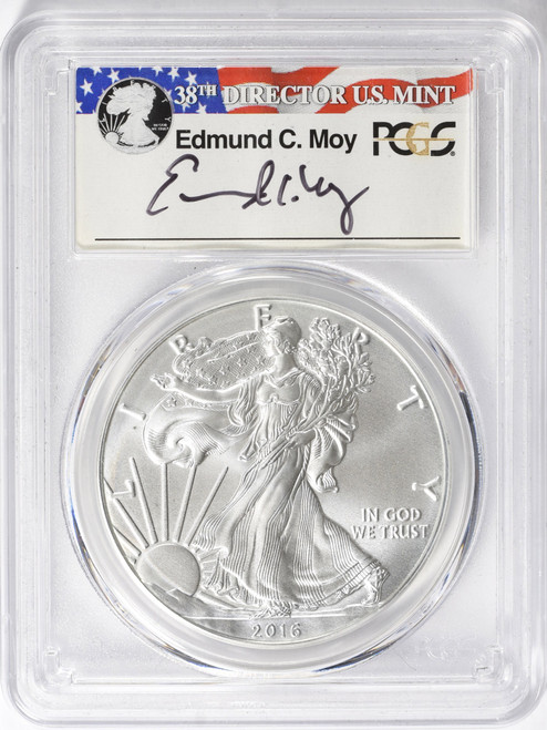 2016-W $1 Proof Silver Eagle 30th Anniversary PCGS PR70DCAM Ed Moy Signed