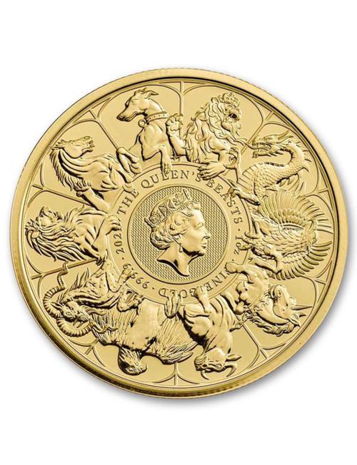 2021 1-oz  Great Britain £100 Gold Queen's Beasts Completer