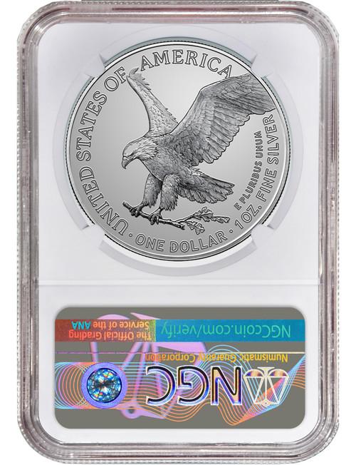 2021 Type 2 American Silver Eagle FDI NGC MS70 Rick Harrison Signed