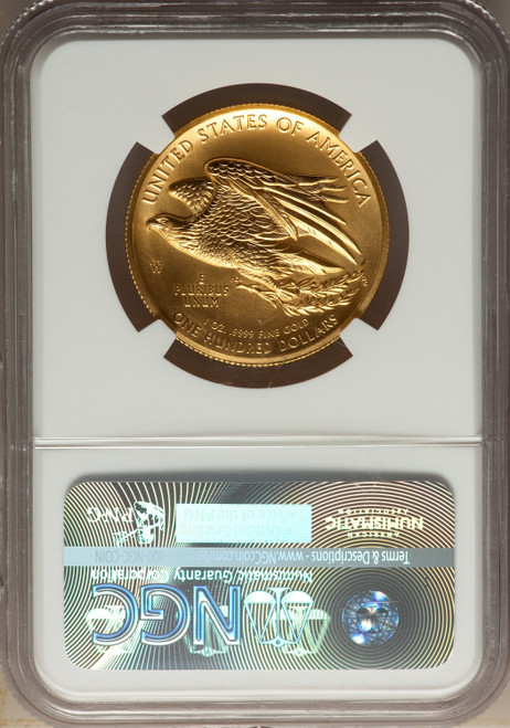 2015-W$100 High Relief First Strike Modern Bullion Coins NGC MS70