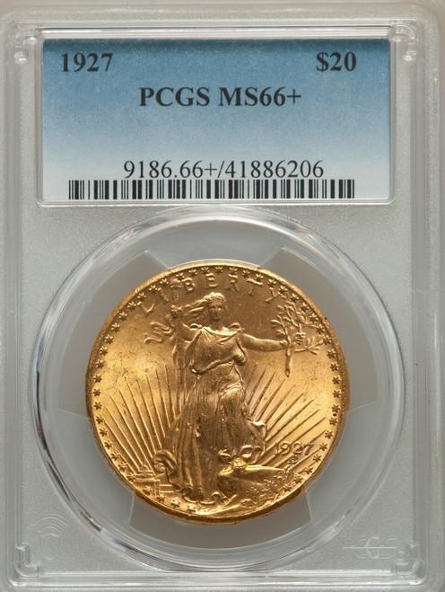 1927 $20 TwentyDollarSaint-GaudensDouble Eagle PCGS MS66+