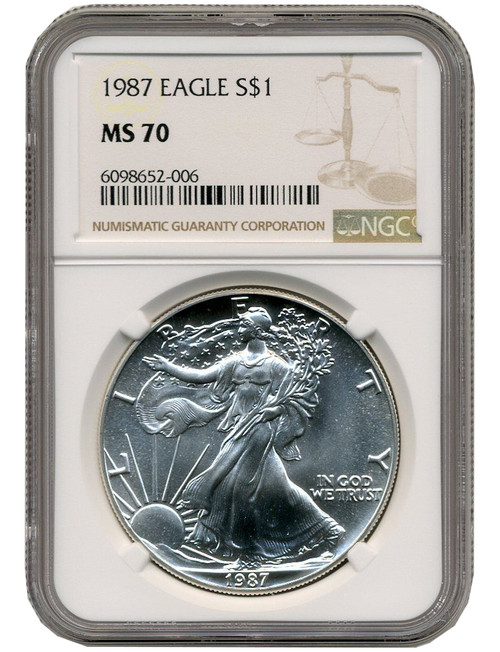 1987 American Silver Eagle NGC MS70 - Pop 906