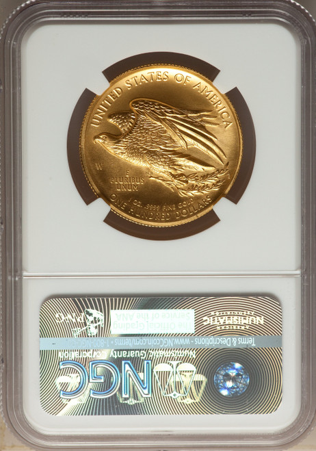 2015-W$100High Relief One-Ounce Gold Modern Bullion Coins NGC MS70
