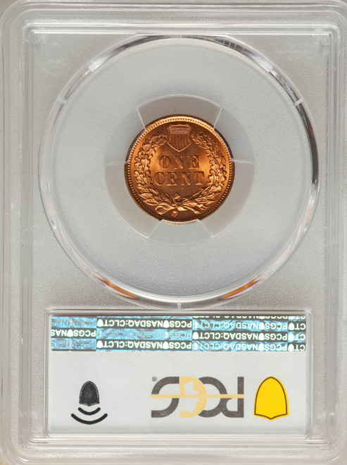 1902 1C RD Indian Cent PCGS MS66