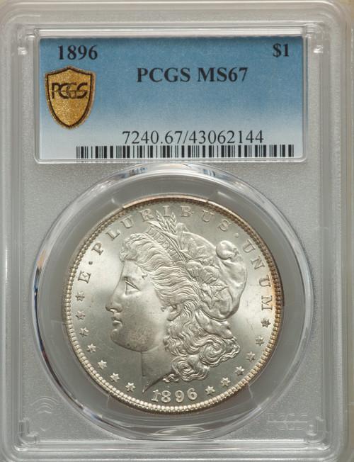 1896S$1Morgan Dollar PCGS MS67