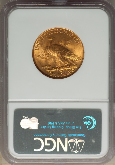 1932 $10 CAC Indian Eagle NGC MS65