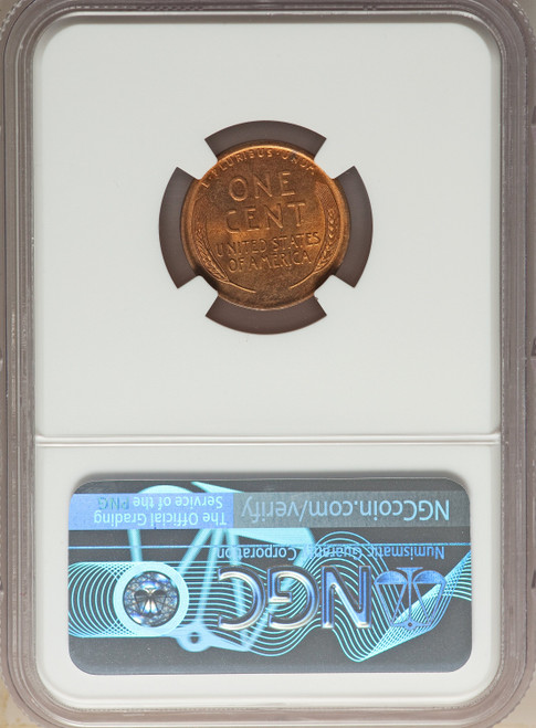 1909-S 1C Lincoln RD Lincoln Cent NGC MS64