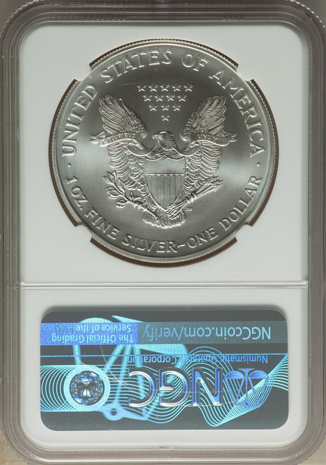 2002 $1American SilverEagle NGC MS70 Castle Signed
