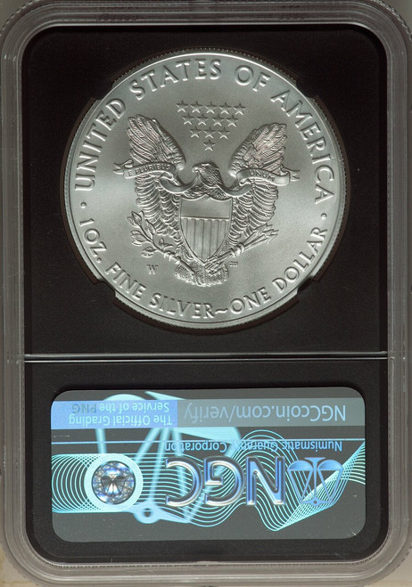 2018-W$1 Silver Eagle Burnished First Day of Issue NGC MS70 Jones Signed