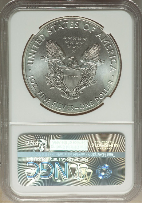 2016 $1 Silver Eagle 30th Anniversary First Day of Issue NGC MS70