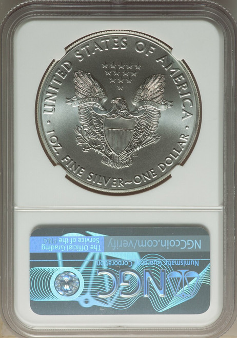 2020 $1SilverEagle Brown Label NGC MS70