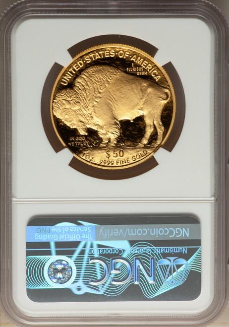2007-W G$50 One-Ounce Gold Buffalo .9999 Fine Gold Modern Bullion Coins NGC MS70
