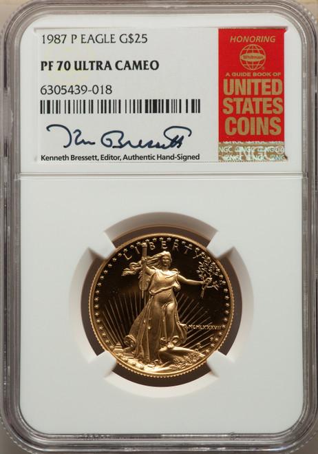 1987 $25 Half-Ounce Gold Eagle Modern Bullion Coins NGC MS70