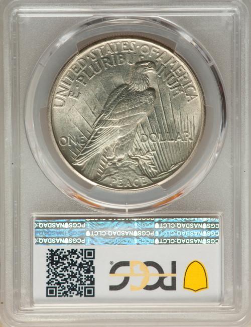 1921S$1PeacePeace Dollar PCGS MS63