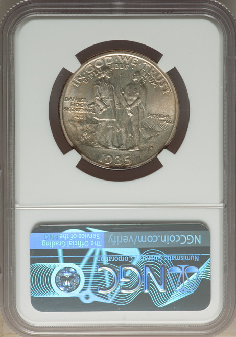 1935-D50C Boone Commemorative Silver NGC MS67