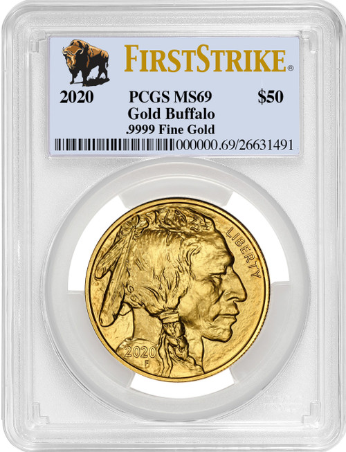 2020-W $50 Proof Gold Buffalo FS Bison Label PCGS MS69