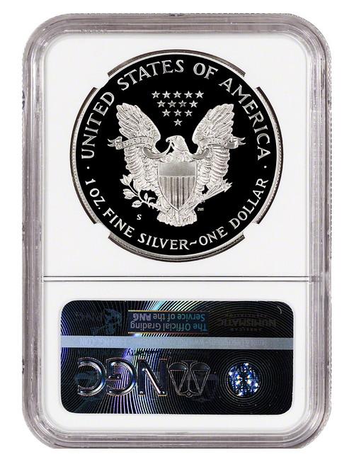 1987 S $1 Proof Silver Eagle NGC PF70 Ultra Cameo John Mercanti Signed
