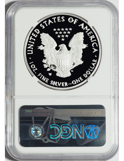 2010-W $1 Proof American Silver Eagle NGC PF70 Ultra Cameo John Mercanti Signed