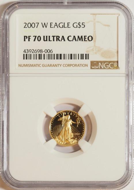 2007 1/10 oz U.S. Mint Proof Gold Eagle NGC PF70 Ultra Cameo