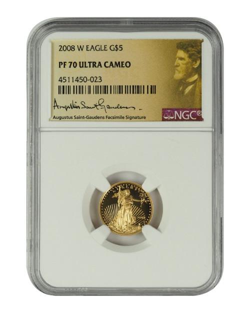 2008 1/10 oz U.S. Mint Proof Gold Eagle NGC PF70 Ultra Cameo