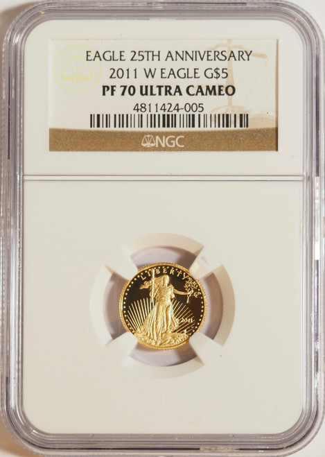 2011 1/10 oz U.S. Mint Proof Gold Eagle NGC PF70 Ultra Cameo