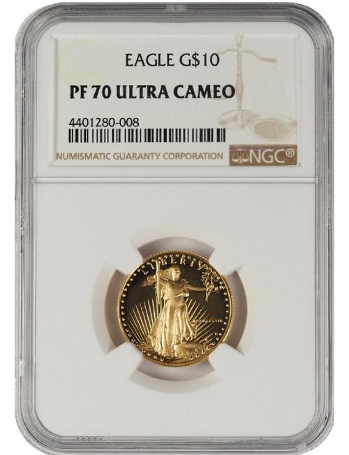 1991 1/4 oz U.S. Mint Proof Gold Eagle NGC PF70 Ultra Cameo