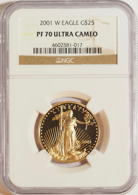 2001 1/2 oz U.S. Mint Proof Gold Eagle NGC PF70 Ultra Cameo