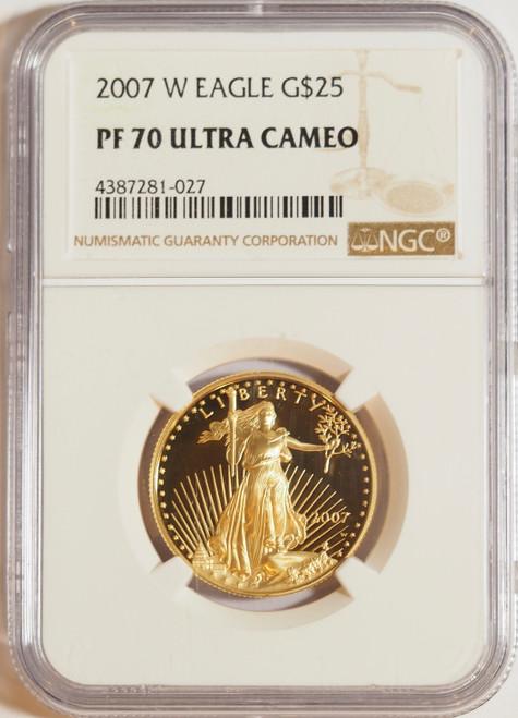 2007 1/2 oz U.S. Mint Proof Gold Eagle NGC PF70 Ultra Cameo