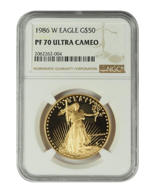 1986 1 oz U.S. Mint Proof Gold Eagle NGC PF70 Ultra Cameo