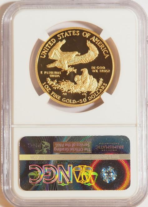 1987 1 oz U.S. Mint Proof Gold Eagle NGC PF70 Ultra Cameo