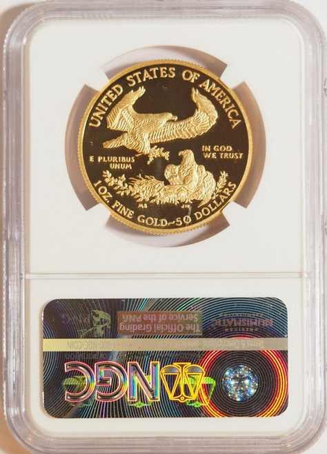 1990 1 oz U.S. Mint Proof Gold Eagle NGC PF70 Ultra Cameo