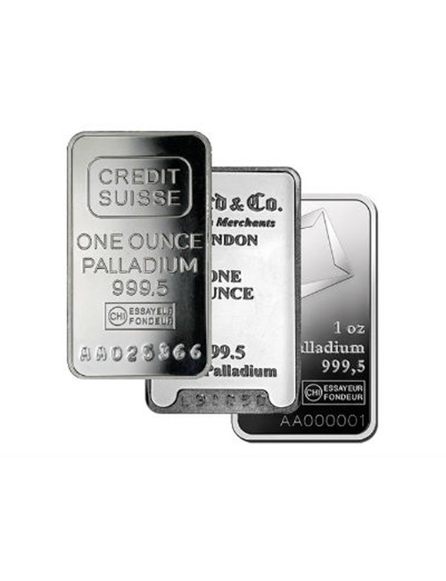 1 oz. Good Delivery .9995 Palladium Bar