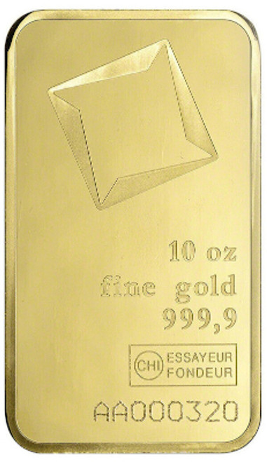 10 oz Valcambi Suisse Gold Bar 999.9 Fine