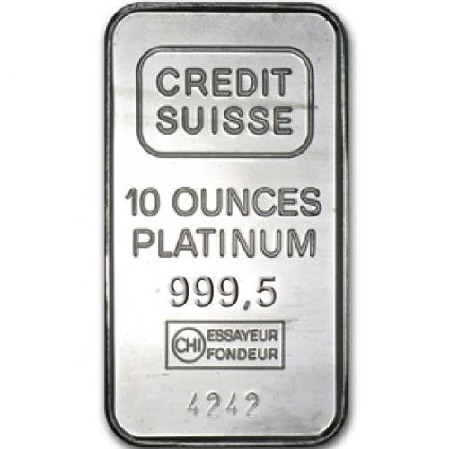 10 oz Credit Suisse Platinum Bar