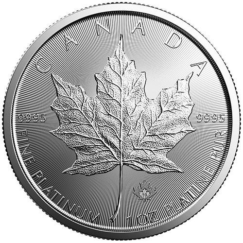 2019 1 oz Canadian Platinum Maple Leaf Coin