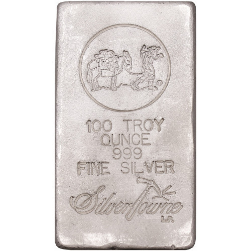 SilverTowne Trademark Poured 100 oz .999 Silver Bar