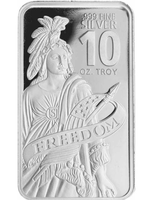 10 oz .999 Fine Silver Freedom Bar New Sealed