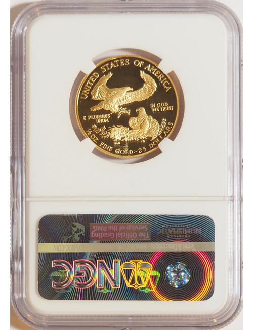 1999 1/2 oz U.S. Mint Proof Gold Eagle NGC PF70 Ultra Cameo