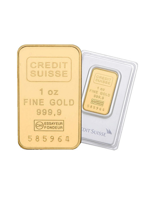 1 oz. Credit Suisse Gold Bar .9999