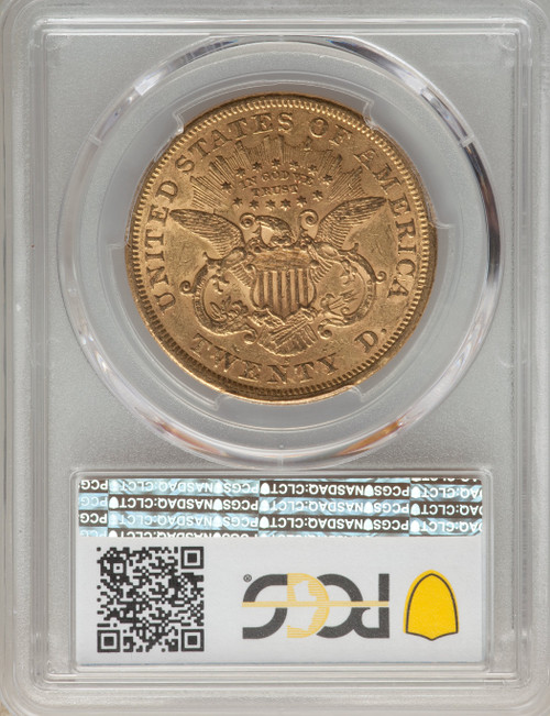1868-S $20 Liberty Double Eagle PCGS AU58 CAC