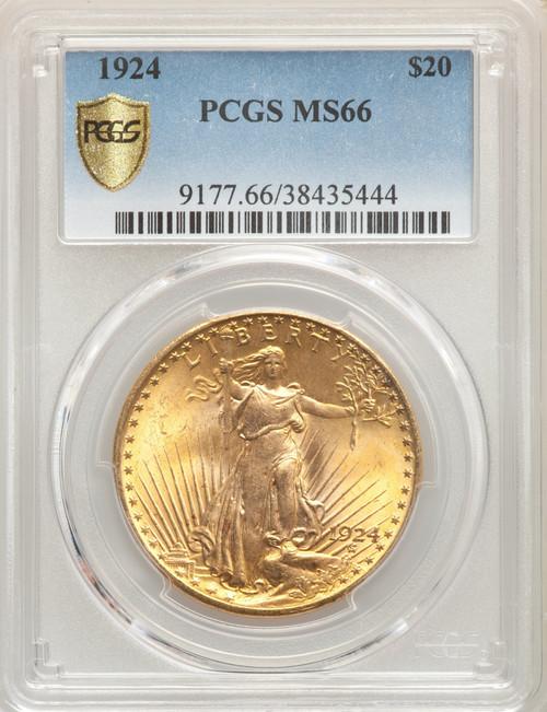 1924 $20 Saint-Gaudens Double Gold Eagle PCGS MS66