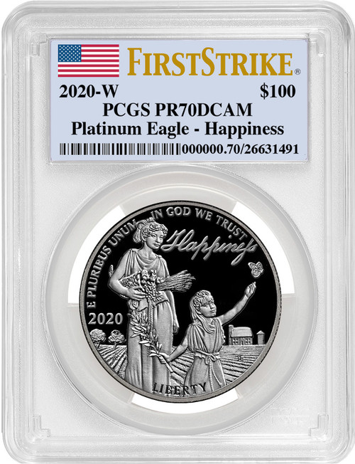 2020-W $100 Proof Platinum Eagle Happiness PCGS FS PR70DCAM
