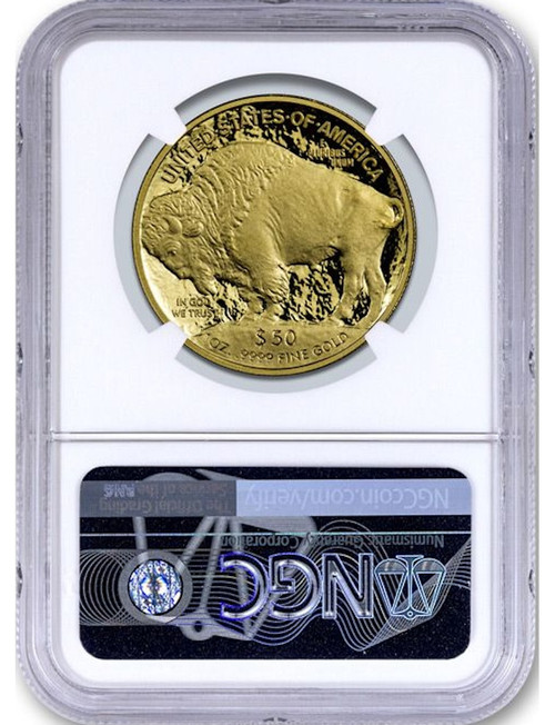 2020 $50 Proof Gold Buffalo Trump Label ER NGC MS70
