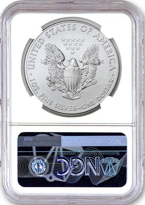2020 (P) $1 American Silver Eagle NGC MS70 Emergency Production FDOI Struck Philadelphia