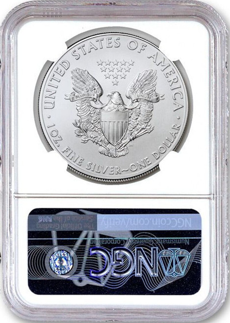2020 (P) $1 American Silver Eagle NGC MS69 Emergency Production 1st Day Struck Philadelphia