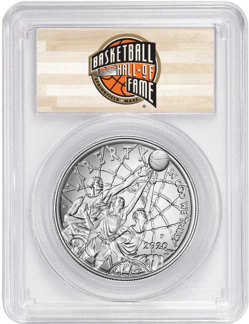 2020-P $1 Basketball Hall of Fame Proof Silver Dollar FDOI PCGS MS70