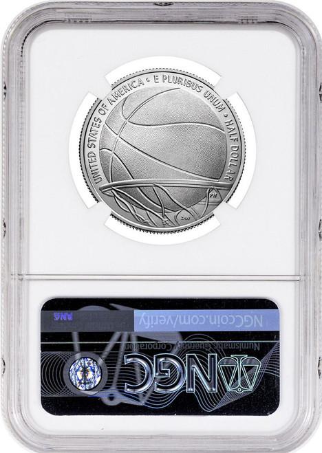 2020-D 50C Basketball Hall of Fame Clad FDOI NGC MS70 Signed Naismith