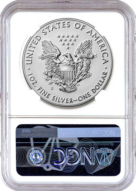 2019-S Enhanced Reverse Proof Silver Eagle​​​​​​​ NGC PF70 Early Releases Moy Label COA No. 40 with matching Certificate Of Authenticity