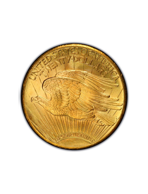 Random Date 1908-1932 Saint-Gaudens (With Motto) $20 Gold Double Eagle AU