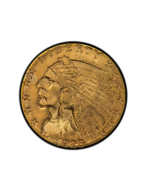 Random Date 1908-1929 Indian $2.5 Gold Eagle Coin AU